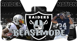 Custom Oakland Raiders Marshawn Lynch Football Helmet Visor, W/ Unbranded Clips