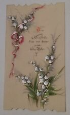 Carte postale CPA fantaisie celluloïd décor peint Fête 1900