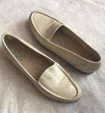 SAS Simplify Pearl Bone White Leather Loafer Tripad Shoe Comfort Moc 9 N