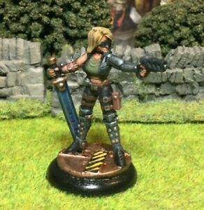 A Beautifully Painted Female Sci Fi Miniature - Starfinder RPG etc.