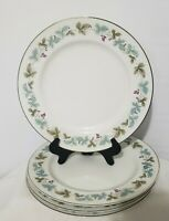 "Set of 4 Vintage Fine China Japan 6701 Dinner Plates 10 3/8"" - Grapes Pattern"