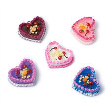 5pcs Resin Cake Pendants Mini Dangle Charms For Earring Jewelry Making 28x33mm