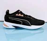 PUMA Women's Sz 10 Black White Stretch Knit Sneakers Jaro Metal Running Shoes