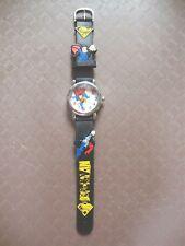 Kid's Superman Analogue (Black) Silicone Band wrist watch BRAND NEW Style B