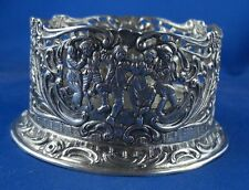 Untersetzer Flaschenuntersetzer Puten florale Darstellung 800er Silber Antik