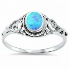 Filigree Oval Ring 925 Sterling Silver Choose Color
