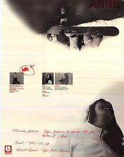 SNOWBOARD POSTER~Anne Molin Kongsgaard Original Burton 2 Sided OOP Signed Bio.~