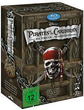 PIRATES OF THE CARIBBEAN 1-4 QUADRILOGY (Blu-ray, 5-Disc-Set) NEU+OVP