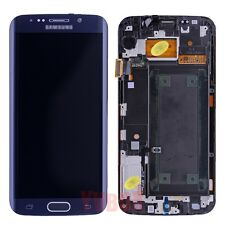 SBI Blue Samsung Galaxy S6 Edge LCD Touch Digitizer Full Screen + Frame Assembly