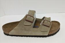 Birkenstock Arizona Slide Sandals, Taupe Suede, Men's 12 M (EU 45)
