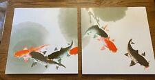 "Koi Fish Wall Art The Gift of Art MacJac Decorative 19 1/2"" x 19 3/4"" Per Panel"