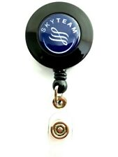 Skyteam Airlines YO YO ID Card Badge Holder Retractable Reel  Lanyard