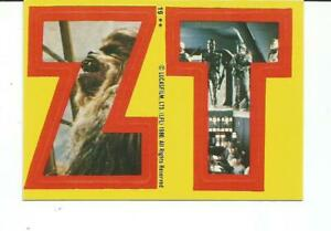 "1980 TOPPS STAR WARS: EMPIRE STRIKES BACK CHEWBACCA/ BOBA FETT ""Z T"" STICKER #19"