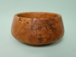 Contemporary hand turned burr wood small bowl