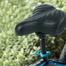 Comfort Wide Big Thicken Bike Bicycle Cruiser Sporty Soft Saddle Seat Black