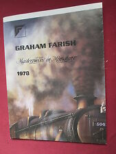 Graham Farish Masterpieces in Miniature 1978 folded poster double sided