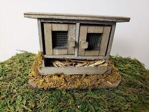 Miniature Dollhouse Fairy Garden Bunny Hut Coop