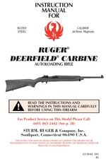 Ruger Deerfield Carbine 44 Mag Rifle Owners Instruction and Maintenance Manual