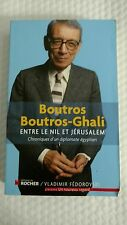 """""""entre le Nil et Jérusalem ; chroniques d'un diplomate égyptien"""" (French) Paperb"""