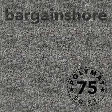 20ft long x 3.75' wide Grey Chr33 Polymat Series 25 Latex Backed Felt Carpet