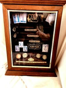 Collectable Golf Shadow Box Display