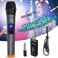 V12 Universal VHF USB Wireless Handheld Microphone Mic With Receiver Karaoke