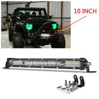 10inch LED Light Bar Driving Flood Spot Combo Work Lamp Offroad SUV 4X4 ATV Slim