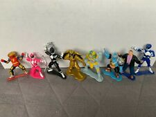 "1993 Bandai Mighty Morphin Power Rangers PVC 3"" Mini Collectible Figures- 8x lot"