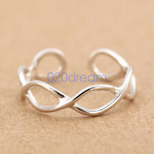 Genuine Solid 925 Sterling Silver Adjustable Open Band Thumb/midi Ring Finger