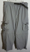 khaki convertible nylon pants - shorts by Suisse Sport, size L