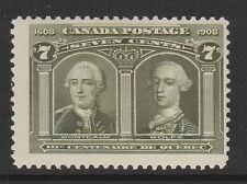 CANADA 1908 7c OLIVE-GREEN SG 192 MINT.