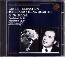 Glenn GOULD Leonard BERNSTEIN SCHUMANN Piano Quartet Quintet CD Juilliard String