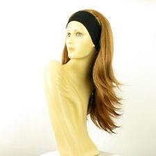 Perruque avec bandeau blond foncé cuivré ref BENEDICTE en G27