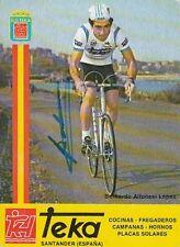 BERNARDO ALFONSEL LOPEZ autografo cyclisme ciclismo TEKA Signée Cycling ciclista