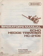 ECHO HEDGE TRIMMER OPERATOR'S MANUAL HC-210E P/N 898 561-0296 1(364)