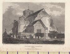 1805 Antique Taille S Géorgien Imprimé ~ Waltham Abbey Église Du Sud Est ~