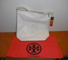 Tory Burch Kipp Hobo New Ivory 102 White Purse Leather BRAND NEW AUTHENTIC NWT