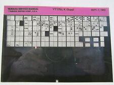 Yamaha YT175 1982 - 1983 Tri-Moto Service Manual Microfiche y351