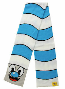 NEW Elope Mugman Blue and White Knit Striped Scarf NIP
