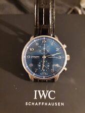IWC Portuguese Chronograph iw371491 3714-91 Blue Dial portugieser Mint box paper