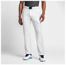 Nike Flat Front Woven Men'S Golf Pants 833192 100 White New sz 36-34