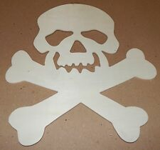 "Halloween Wooden Plaques Creatology 12"" x 10"" Kid Crafts Skull & Crossbones 127Q"