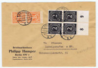 Bizone/AM-Post, Mi. 5z(2), MiF 912/4erUR, Erlangen, 8.10.46