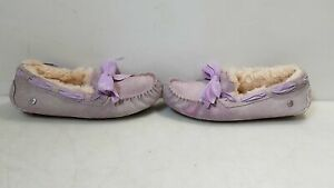 Ugg Purple Suede Moccasin Loafers Women's Size 7