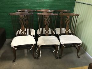 Vintage Conant Ball Colonial Revival set 6 dining chairs