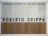 """Ausstellungs Plakat """" Roberto Crippa """" VTG Mannheim 1965, 60er Jahre alt vintage"""