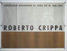"Mostre MANIFESTO ""Roberto Crippa"" VTG Mannheim 1965, 60er ANNI VINTAGE"