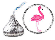 216 PINK FLAMINGO BIRTHDAY PARTY FAVORS HERSHEY KISS LABELS