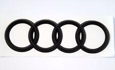 Audi Matte BLACK Rear Emblem Decal Logo Trunk Hatch Rings
