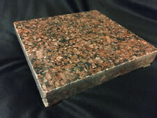 Red Pink Granite Block Surface Plate Coaster Or Paperweight
